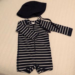 Hanna Andersson Swimsuit and Hat
